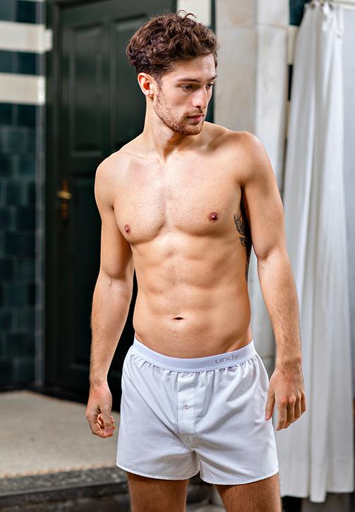 2-pak stribet boxershorts