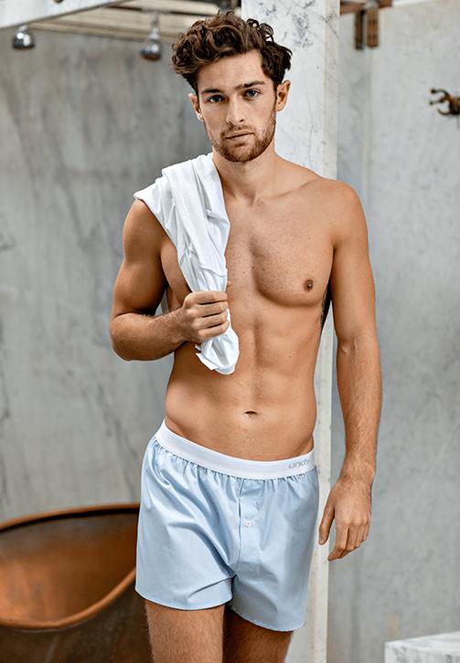 2-pak lyseblå boxershorts