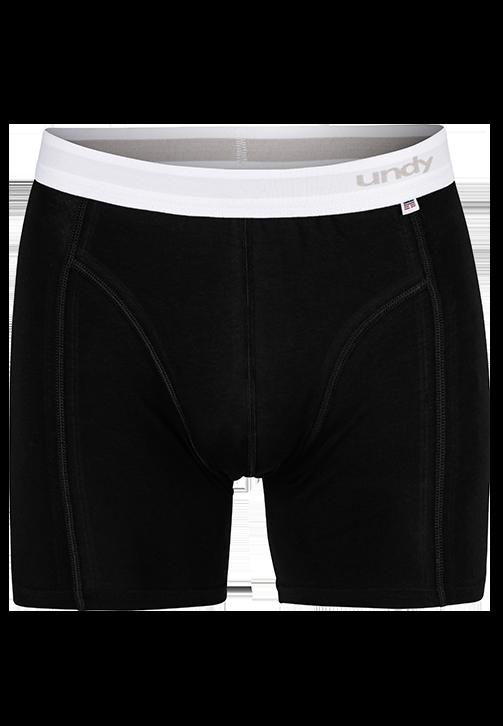 Sorte boxerbriefs med hvid kant