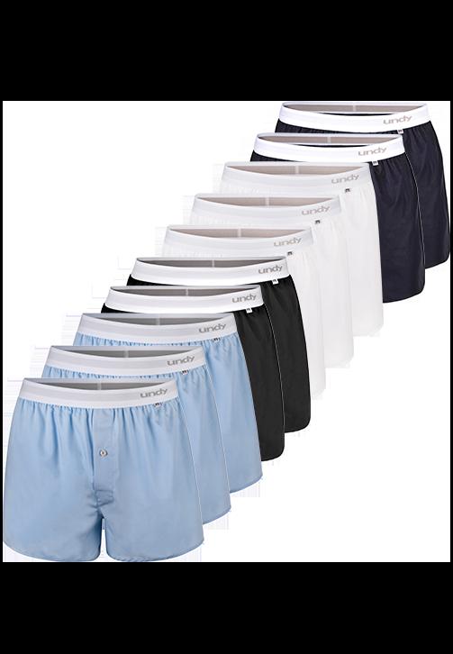 10-pak ensfarvet boxershorts
