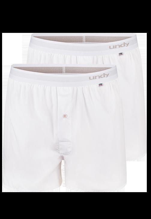 2-pak hvide boxershorts
