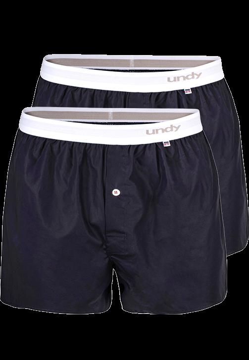 2-pak marineblå boxershorts