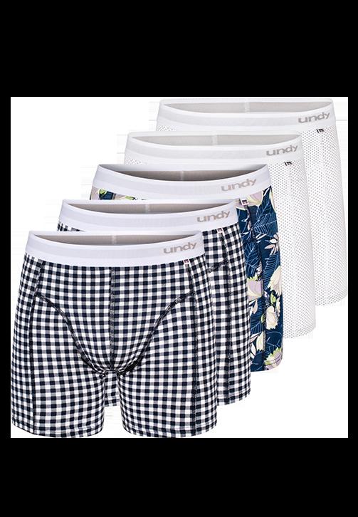 5-pak forskellige print boxerbriefs