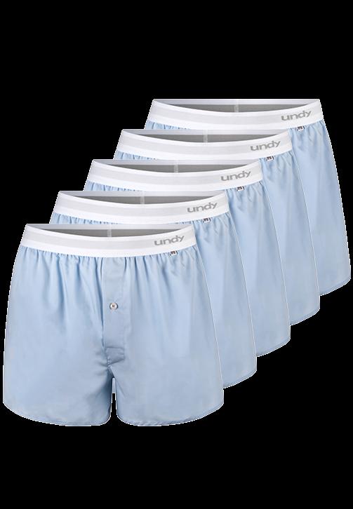 5-pak lyseblå boxershorts