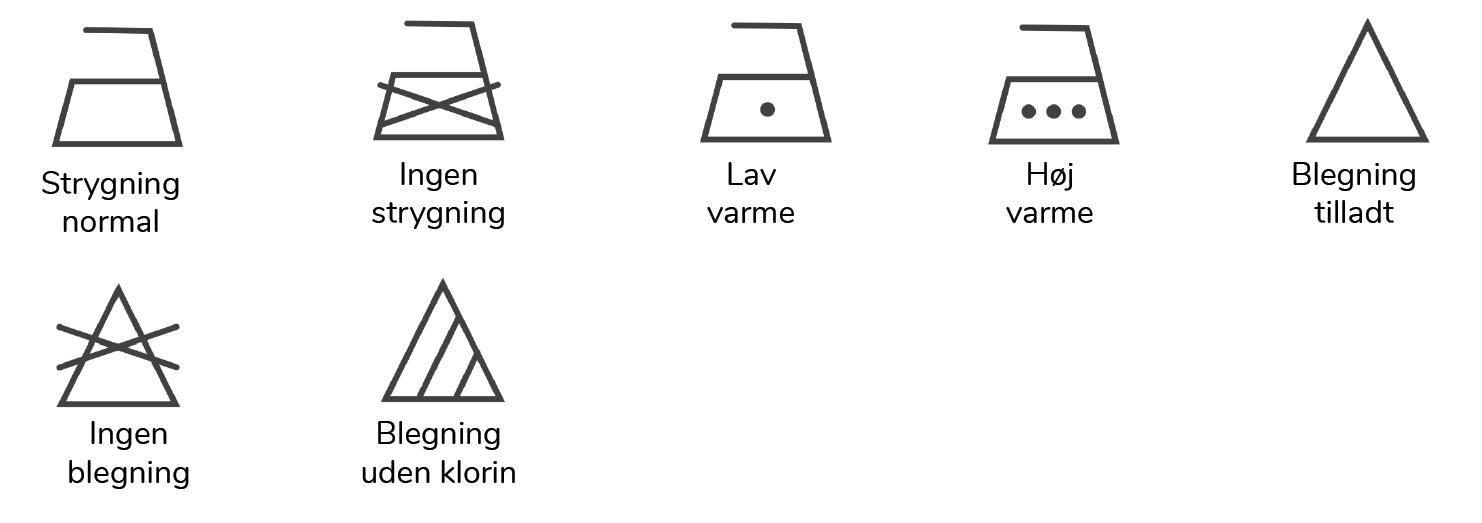 vaskeanvisninger guide strygning og blegning