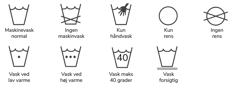 vaskeanvisninger guide vask