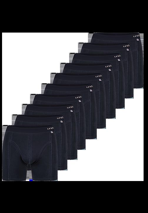 10-pak marineblå boxerbriefs med mørkt bælte