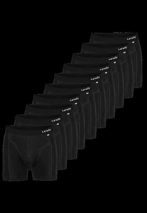 10-pak sorte boxerbriefs med sort bælte