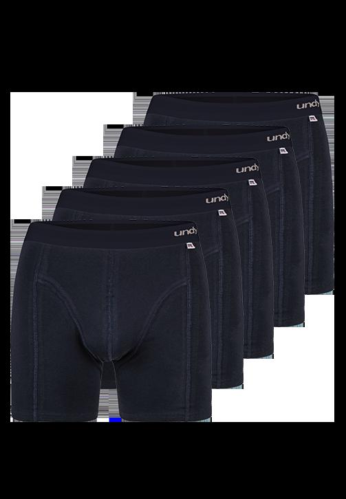 5-pak marineblå boxerbriefs med mørkt bælte