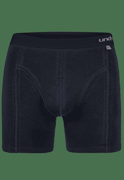 Marineblå boxerbriefs med mørkt bælte