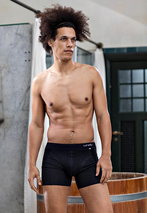 3-pak sorte boxerbriefs med sort bælte