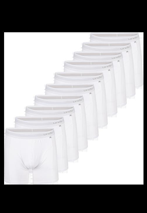 10-pak hvide boxerbriefs