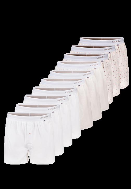 10-pak blandet designs boxershorts