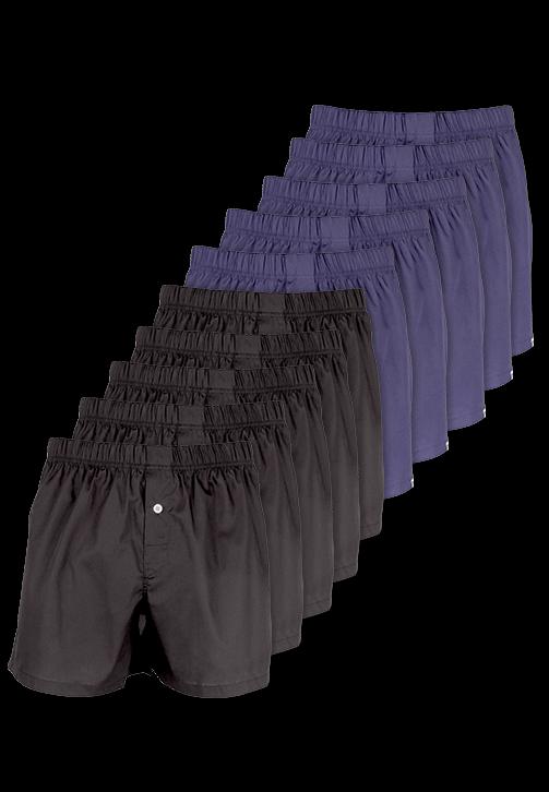 10-pak sorte og marineblå boxershorts