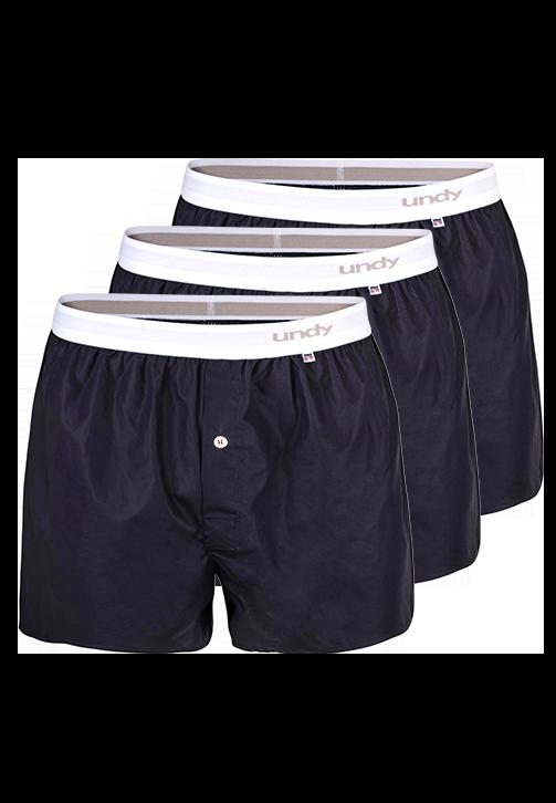3-pak marineblå boxershorts