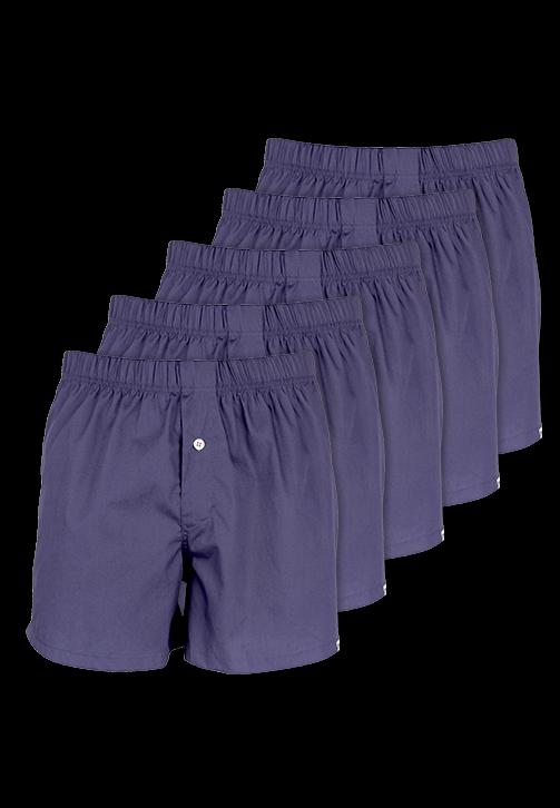 5-pak marineblå boxershorts