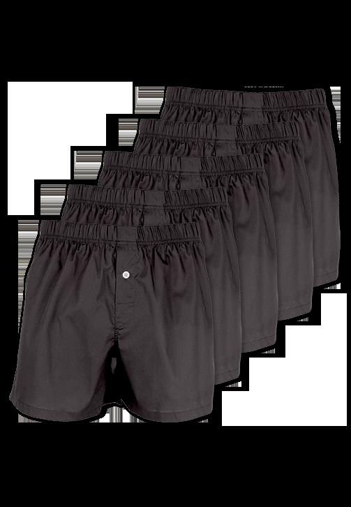 5-pak sorte boxershorts