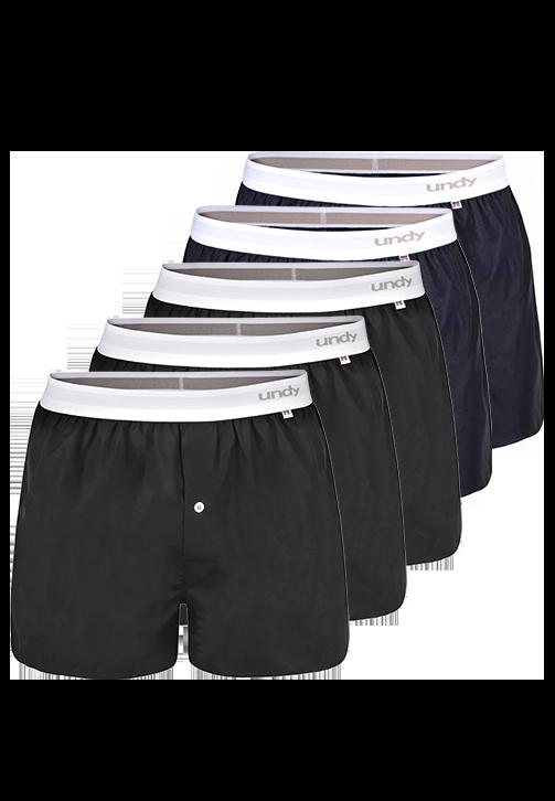 5-pak sorte og marineblå boxershorts