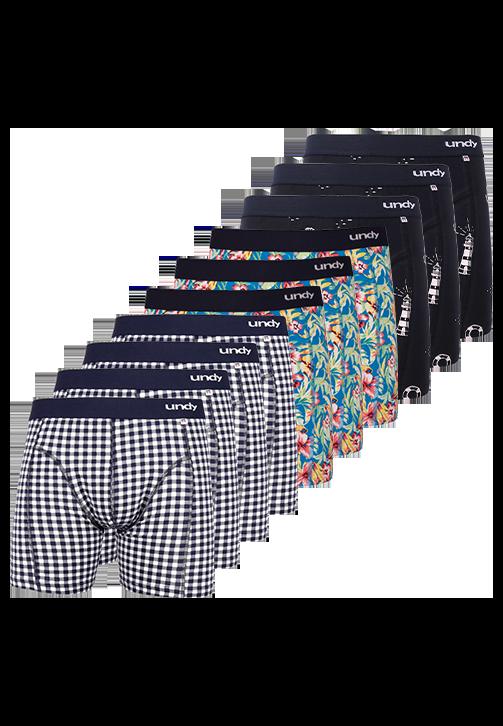 10-pak blandet print boxerbriefs