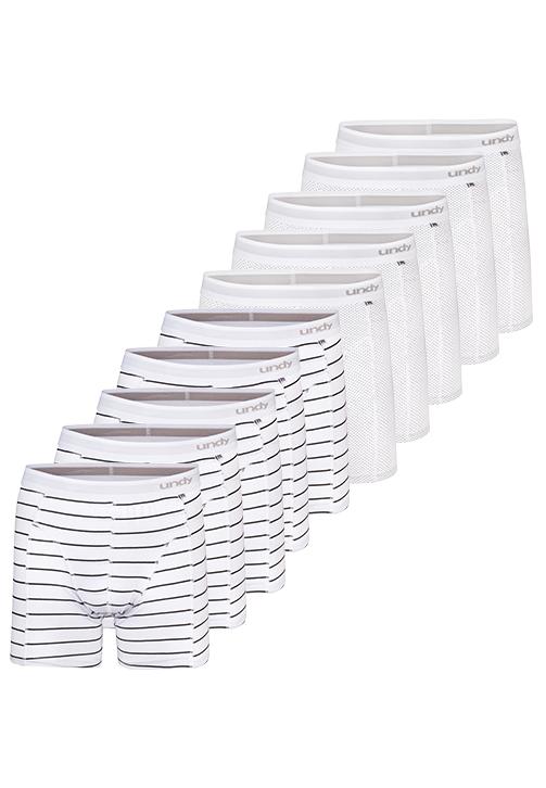 10-pak prikket og stribet boxerbriefs