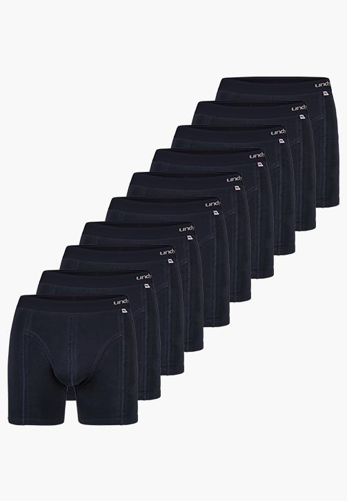 10-pak marineblå boxerbriefs